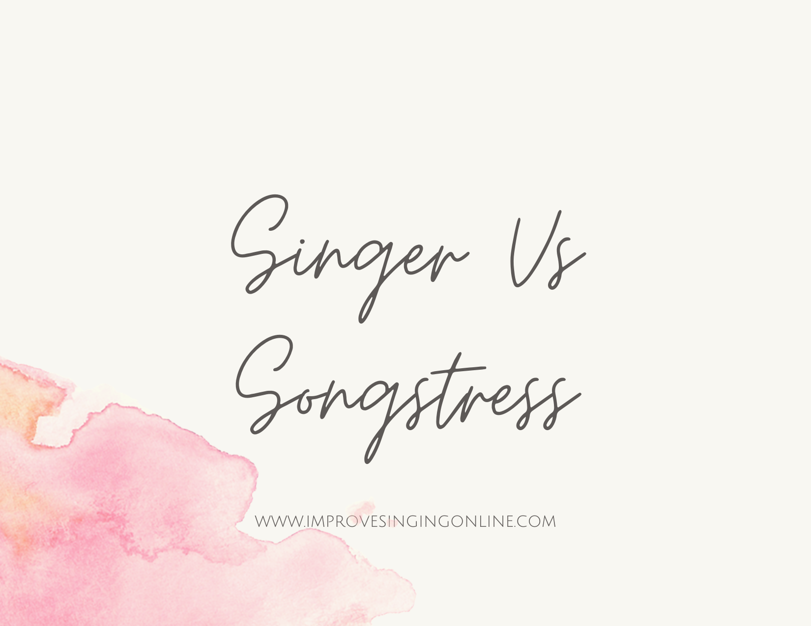 Singer Vs Songstress